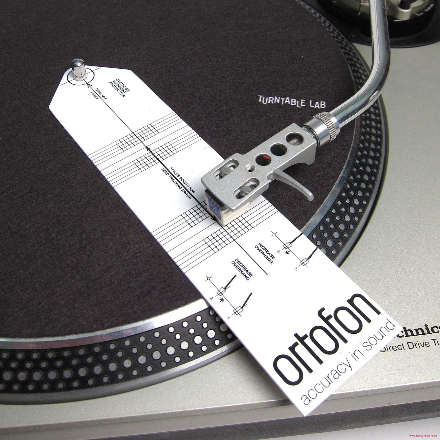 Ortofon Cartridge alignment tool - šablona