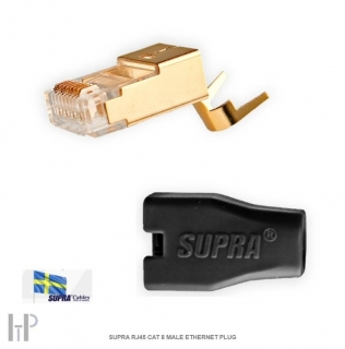SUPRA RJ45 CAT 8 MALE ETHERNET PLUG