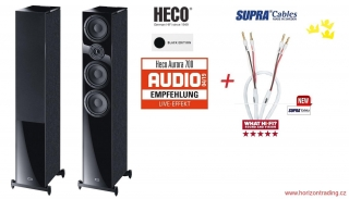 Heco Aurora 700 Black Edition + SUPRA Rondo 4x2,5mm Combicon SET v délce 2x2,0m
